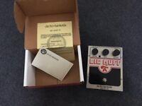 Electro Harmonix usa Big Muff, pi nyc overdrive distortion guitar pedal.