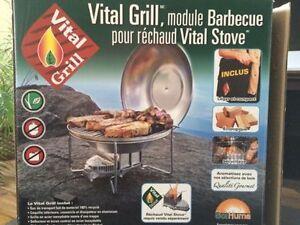 Mini poêle et. BBQ de survie combustion bois,granule,cocottes