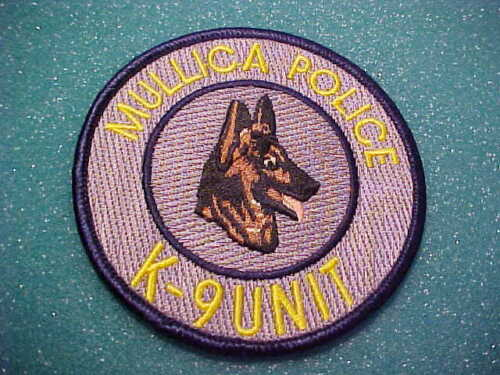 MULLICA NEW JERSEY K-9 POLICE PATCH SHOULDER SIZE UNUSED 3 INCH