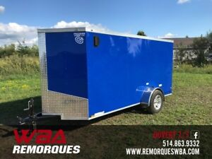 2019 Remorque Fermée 5x12 Rampe (5 x 12) Idéal Motoneig Précisio