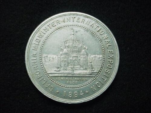 San Francisco, California 1894 California Midwinter Exposition Souvenir Medal