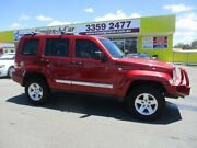 2009 Jeep Cherokee KK MY10 Limited Red 4 Speed Automatic Wagon Kedron Brisbane North East Preview