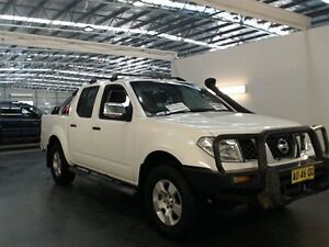 2007 Nissan Navara D40 ST-X (4x4) White 6 Speed Manual Dual Cab Pick-up Beresfield Newcastle Area Preview