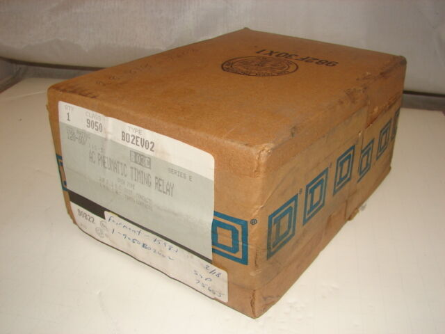 SQUARE D 9050-B02EV02 AC PNEUMATIC TIMING RELAY ****NIB****