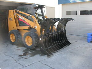 Skid Steer Heavy Duty Rake Grapples
