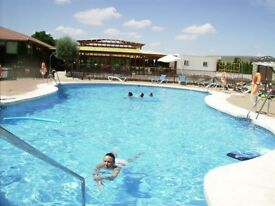 Luxury caravan on beautiful residential park, Andalucia