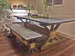 Beautiful custom tables, benches, bedroom sets and much more!