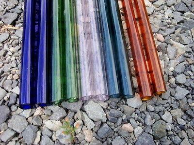 GLASS BLOWING BOR0 12 x 2TUBING,Flameworking, Amber,Green, cobalt,Purple, Teal