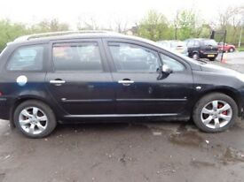 (07) 2007 pug 307 SW s 5 DOOR ESTATE 1.6cc hdi MOT sep 18 full p/ r ew cl aw cd player
