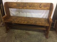 Bench: Rustic hand made from reclaimed boards
