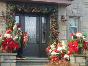 Décoration de tour de porte extérieure pour les fêtes