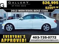 2012 Mercedes C300 4Matic $209 bi-weekly APPLY NOW DRIVE NOW