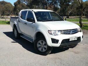 2012 Mitsubishi Triton MN MY13 GLX Double Cab White 4 Speed Sports Automatic Utility Mile End South West Torrens Area Preview