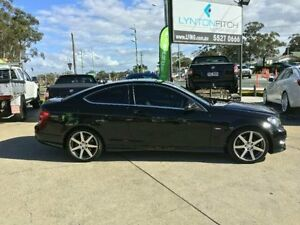 2011 Mercedes-Benz C180 C204 BLUEEFFICIENCY 7G-TR Black Semi Auto Coupe Southport Gold Coast City Preview