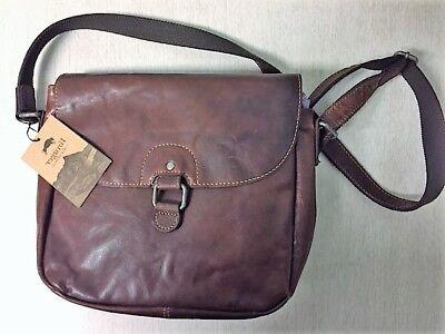 Messenger Bag - Jack Georges Voyager Saddle Bag (Brown Logoed Messenger Bag)