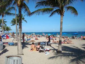 Mois de Décembre Ocean Blvd près de la Mer Fort Lauderdale