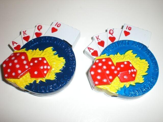 2 GAMBLING LIGHTERS (POKER, DICE, PKR CHIP)