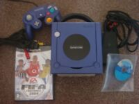 purple Nintendo Gamecube and a couple of games sale or swap for another retro console bundle