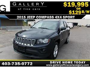 2015 Jeep Compass 4X4 Sport $129 bi-weekly APPLY NOW DRIVE NOW