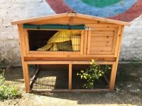 4 FT Rabbit Hutch (Chalet), as new and includes a cover