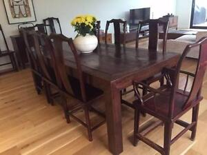 Elm Dining Room Table + Chairs Caulfield North Glen Eira Area Preview