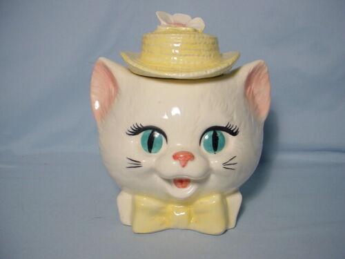 Vintage Metlox Cat Head Cookie Jar Anthropomorphic