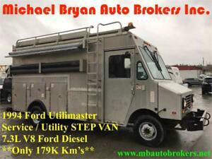1994 FORD UTILIMASTER STEP VAN / UTILITY TRUCK / SERVICE TRUCK