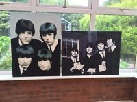 The Beatles - Wall Art - Two canvas paintings