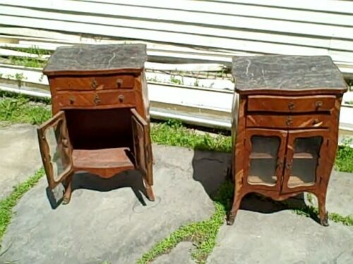 Pair of Antique French Louis XV Kingwood and Bronze Mounted Side tables