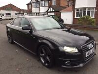 AUDI A4 2.0 TDI S LINE 2009, 170 BHP, FULL HISTORY GREAT CONDITION £6500