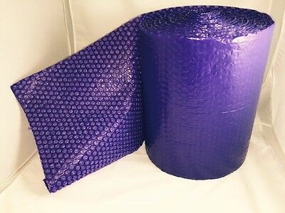 50 Feet X12 Inches X316 Small Bubbles Purple Color Bubble Wrap Roll Bubblewrap