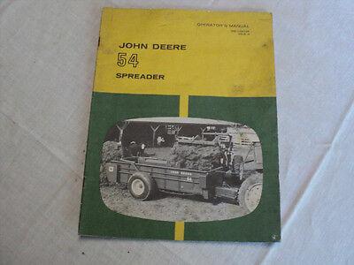 Vintage John Deere 54 Spreader Operator's Manual