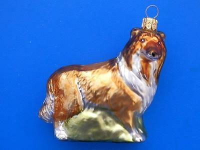 COLLIE DOG EUROPEAN BLOWN GLASS CHRISTMAS TREE ORNAMENT DECORATION - Collie Christmas Tree