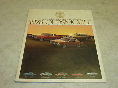 1978 OLDSMOBILE DEALER ISSUED SALES BROCHURE, 442, OMEGA, STARFIRE, CUTLASS