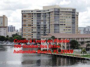 FLORIDE, très grand condo à Louer à Hallandale (960 pieds carré