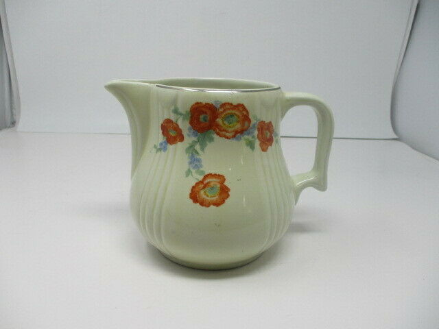 Vintage HALL CHINA   Orange Poppy Jug  Radiance #4  Kitchenware Series
