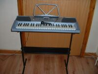 finetune professional keyboard with stand and microphone