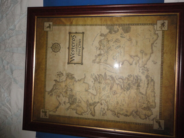 Game of thrones - Framed map of Westeros- Makes it easy to follow ...