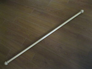 "48"" (4 feet) WOODEN CURTAIN ROD ... EXCELLENT CONDITION!"