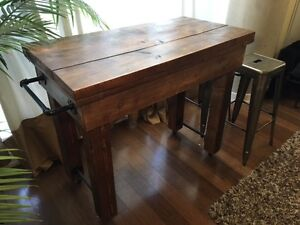 Rustic Solid Wood Dining Table / Kitchen Island