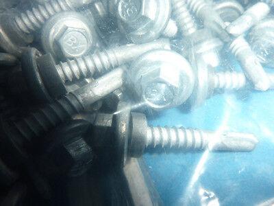 12-14 X 1-14 Htz Stainless Steel Roofing Screws Hex Tek Epdm Washer Teks 2000