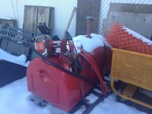 500L tidy tank electric pump with filter & lock