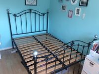 Antique style metal double bed