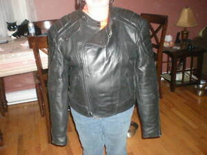 Starting To Get Cool Driving Nice Large Leather Bikers Jacket