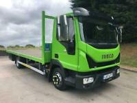 2017 17 Iveco Eurocargo 75-16 EURO 6 20ft flat, air con, 124,000kms,