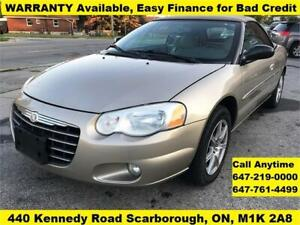 2004 Chrysler Sebring Ltd Convertible FINANCE WARRANTY AVAILABLE
