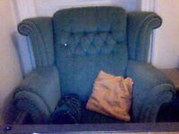 Green Vintage Armchair