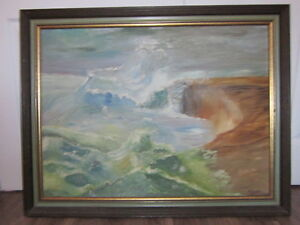 framed oil painting by Morley over 60 years old