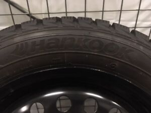 Hankook winter tires on rims
