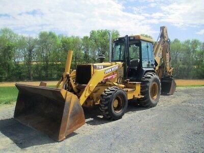 John Deere 710d Tractor Loader Backhoe 4x4 Cab Ext Hoe Only 4480 Hours